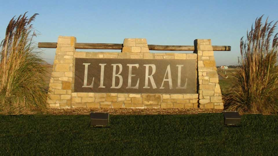 Welcome sign to the City of Liberal